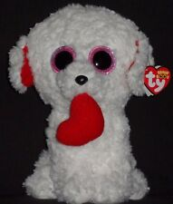 "TY BEANIE BOOS - HONEY BUN the 9"" VALENTINE DOG - MINT with TAG (SEE PICS)"