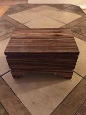 ZEBRA WOOD JEWELRY BOX