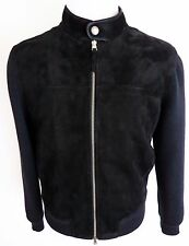 $4490 NEW TOM FORD Black Suede Leather Wool Bomber Jacket 50 Euro 40 US Medium