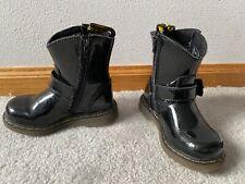 Toddler Doc Martens Black Buckle Zipper Boots size 7 Punk