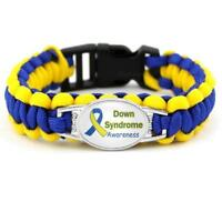Down Syndrome Awareness Support Paracord Bracelet Gift Strength Canadian Seller