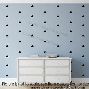 Nursery wall stickers, 30 Triangle wall stickers, Kids bedroom wall, Home decor