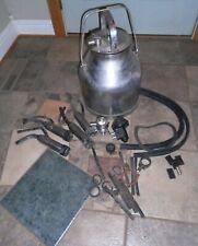 Vintage DELAVAL Dairy MILKER Stainless Steel JUG BUCKET, + PARTS, 4 TEAT