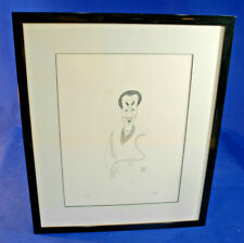 Al Hirschfeld Hand Signed Ltd Ed. Lithograph BILL COSBY with signed gift letter