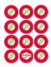 35 The Flash Cupcake Cake Toppers Decorations Edible Wafer Paper *Pre Cut*