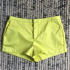 SUPRE Women's Size Small Sunny Lime Yellow Dress Mini Shorts With Pockets