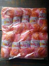 500g SIRDAR FUNKY FUR eyelash WOOL YARN – 610 TANGERINE pink orange DK rare!