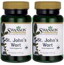 *BONUS* 2-PACK Swanson St. John's Wort 375mg 60 X 2 120 Caps / FAST SHIPPING