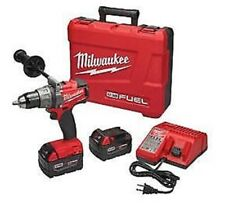 """Milwaukee M18 Fuel 1/2"""" Drill Driver Kit 2 - 5.0 Batteries & Charger 2703-22"""