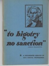 To Bigotry No Sanction - PB 1944 - American Jewish Committee - Scarce