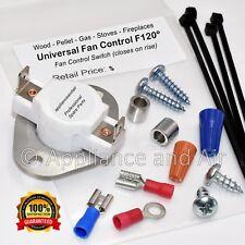 F120 CERAMIC Wood Pellet Stove Low Limit Blower Fan Switch + Tips & Instructions