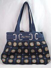 Women's Blue Denim Silver Studs Shoulder Bag Tote Bag Handbag NEW Bag Palace