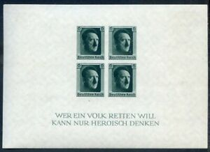 Germany Third Reich 1938 Cultuire Fund sheet imperf mint l.h. (2021/0213#01)