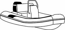 """8oz BOAT COVER BLUNT NOSE INFLATABLE CENTER CONSOLE 13'6""""-14'6"""" 74""""B"""