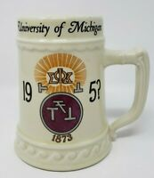 Vintage University of Michigan Wolverines Mug 1950's Fraternity
