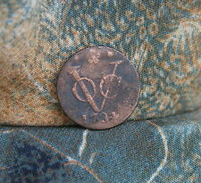 East India 1734 VOC Copper Duit World Coin Netherlands East Indies Holland