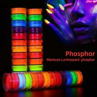 DIY Acrylic Fluorescent Luminous Pigment Powder For Nails Pack 12 Glow in Dark