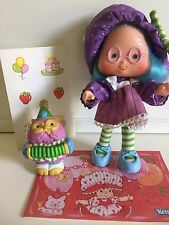 Vintage Strawberry Shortcake Doll: Plum Puddin w/ Pet Elderberry Owl (1984)
