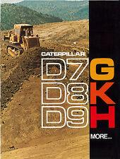 Caterpillar D7G D8K D9H Tractor Sales Brochure 1975