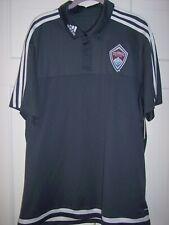 Adidas Colorado Rapids FC Soccer Polo Shirt MLS 2XLarge Gray Exc Condition