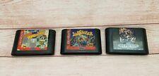 Lot of 3 Sega Genesis Video Games Landstalker Bomberman Streets of Rage 2