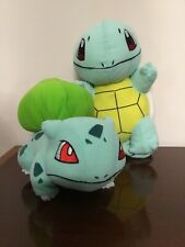"Tomy Pokemon Squirtle Turtle & Bulbassaur Plush Stuffed animal 12"" Toy Nintendo"