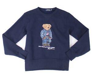Polo Ralph Lauren Mens Sweater Blue US XS Crewneck Fleece Pullover $148 #028
