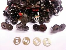 50 Sets GUN METAL 14mm Magnetic Fastener Snaps Clasps  Bags Craft Sewing Buttons