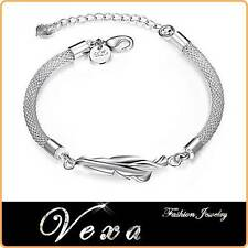 NUOVO 925 Sterling Silver Charm Bracciale Braccialetto Donna Fashion Jewelry BS05