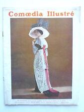 """COMOEDIA ILLUSTRE THEATRE MODE Melle MALRAISON """"BAL des QUAT'Z' ARTS"""" 1912 n°20"""