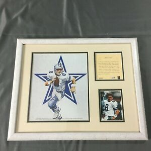 TROY AIKMAN KELLY RUSSELL STUDIOS FRAMED LITHOGRAPH FOOTBALL 1994