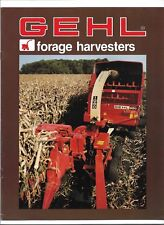 Original OEM OE Gehl 760 1060 1260 Forage Harvesters Sales Brochure Form # 4367