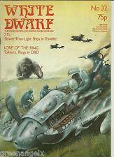 White Dwarf Revista - # 32 (D&D, Runequest, Viajero, cohetes, etc.) 1982