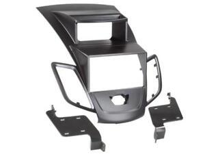 Pour Ford Fiesta 7 JA8 Diaphragme Autoradio Montage Cadre de Double-Din Noir