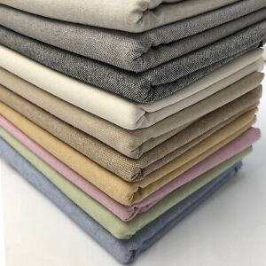 """Plain Cotton Rich Linen Fabric Craft Curtaining & Upholstery Material 