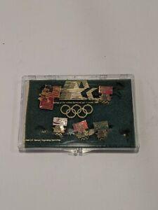 Vintage 1984 LA Olympics Soda Coca-Cola Tab Sprite Diet Coke Pin Lot WORN USED