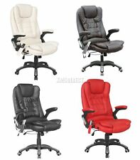 WestWood 8025 Leather 6 Point Massage Office Computer Chair Reclining Swivel