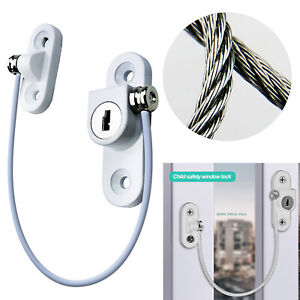2/4/6PCS Window Door Restrictor Child Safety Security Lock Cable Catch Wire UK