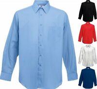 FRUIT OF THE LOOM Herren Hemd Long Sleeve Poplin Shirt Langarm-S-3XL (2)