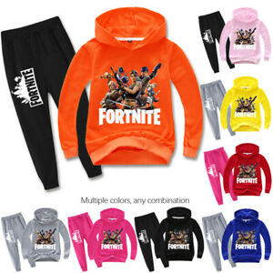 Kids Boys Fortnite Sweatshirts Pullover Cartoon Hoodie+Trousers Cotton T-Shirt