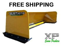 7' Xp24 snow pusher box Free Shipping-Rtr skid steer Bobcat Case Caterpillar