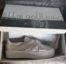 06b90a05caa84 BNIB ELLIE GOULDING Metallic Silver shoes Size 4uk 37eu RRP£24.99