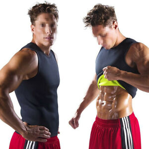 Men Neoprene Shaper Sauna Suit Tank Top Workout Vest Gym Shirt Help Sweat