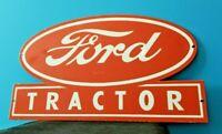 VINTAGE FORD AUTOMOBILE PORCELAIN GAS SERVICE DEALERSHIP TRACTOR FARM EQUIP SIGN