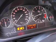 Pour BMW E38 E39 X5 E53 Chrome Anneaux Cerclages De Compteur Chromes 4 pieces
