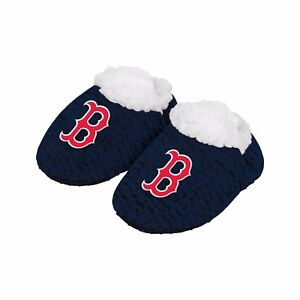 Boston Red Sox POLY KNIT Infant Newborn Baby Booties Slippers Shower New Gift