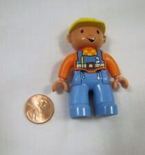 "LEGO DUPLO BOB the BUILDER 2.5"" FIGURE Orange Shirt Yellow Hat Excellent Rare!"