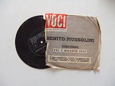 """Benito Mussolini – Discorso Del 5 Maggio 1936 -Disco Flexi Vinile 33 Giri 7"""""""