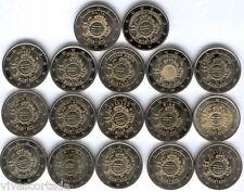 Coleccion completa 2 Euros 2012 @@ 10º Aniversario del Euro @@ 17 Paises 17 Val.