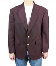 Vintage Mens Blazer 42S Dark Plum Purple Wool Gold Buttons Jacket Sports Coat